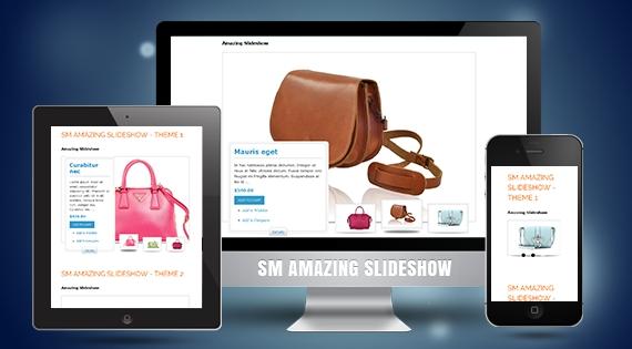 SM Amazing Slideshow - Responsive Module for Magento