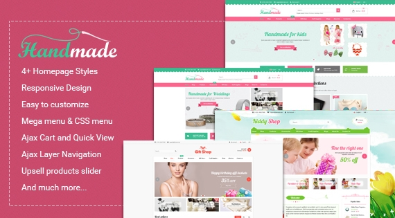 SM Handmade - Responsive Magento Theme for Accessories Store