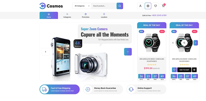 [Preview] SM Cosmos - All-in-one Hitech Magento 2 Theme