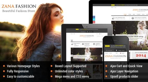 Zana Fashion - Responsive Multipurpose Magento Theme