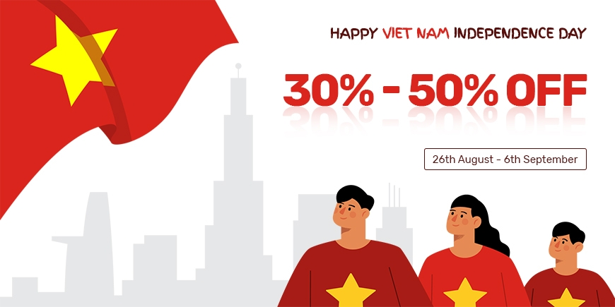 Happy Vietnam Independence Day! Sale OFF 30%-50% Limited Premium Themes