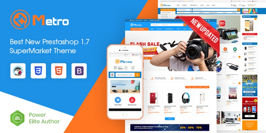 SP Metro - Multipurpose Responsive PrestaShop 1.7 Theme