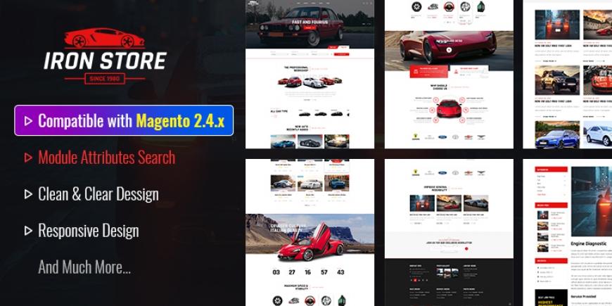 Ironstore - Best Magento 2 Auto Parts Theme