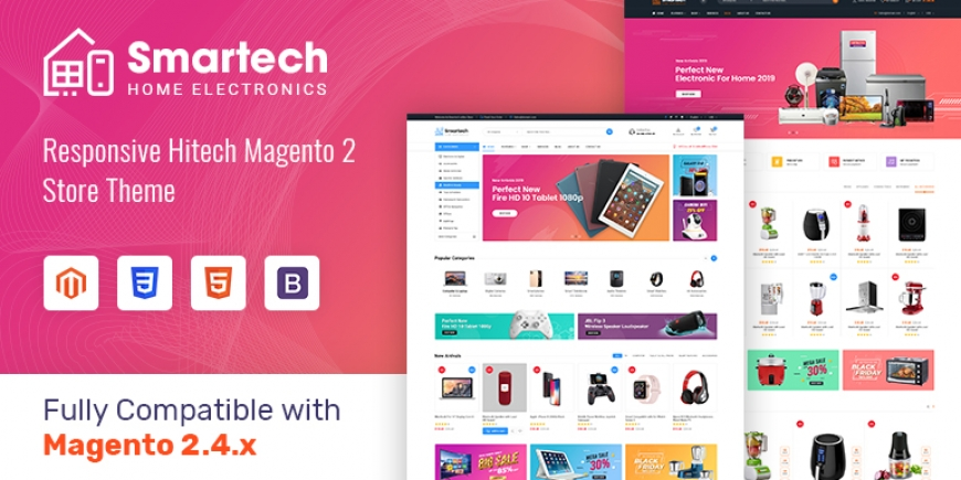 SM Smartech - Responsive MultiPurpose Magento 2 Theme