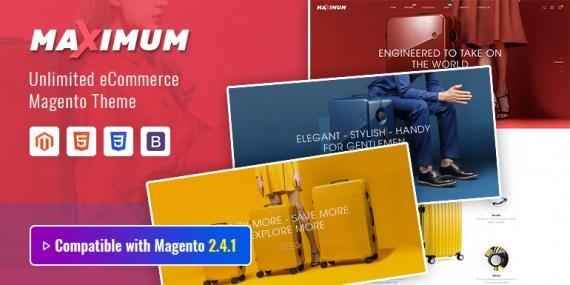 SM Maximum - Multipurpose Responsive Magento 2 Suitcase Store Theme