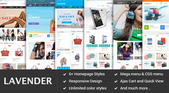 SM Lavender - Responsive Multipurpose Theme for Magento