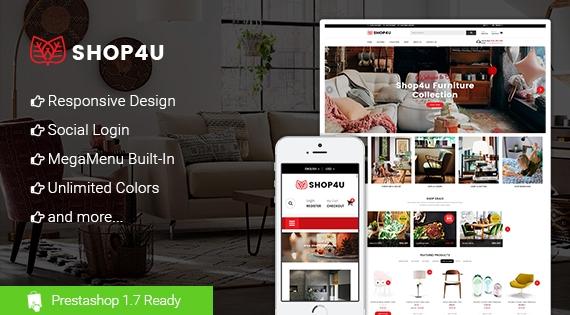 Shop4U - Responsive PrestaShop 1.7 Store Theme