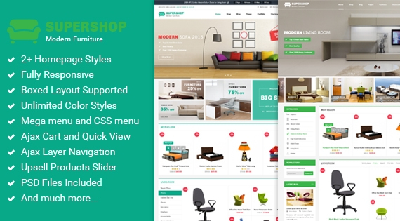 SM Supershop - Responsive Magento Furniture Store Theme
