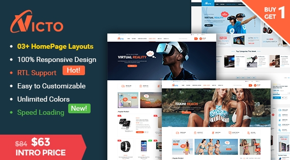 Victo - Ultimate Responsive Magento 2.1 Theme