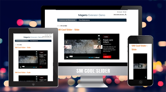 SM Cool Slider - Responsive Module for Magento