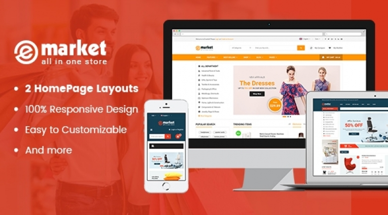 Emarket - Stunning and Responsive Magento 2.1 Theme