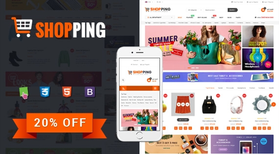 Shopping - Modern Responsive PrestaShop 1.7 Electronics Theme