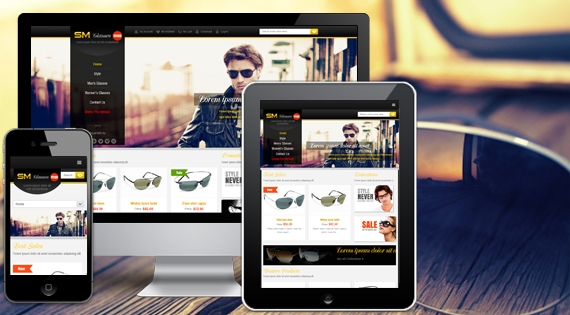 SM Glasses Free Version - Magento Theme