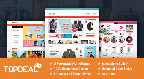 SM TopDeal - Responsive and Customizable Magento 2.1.x Theme